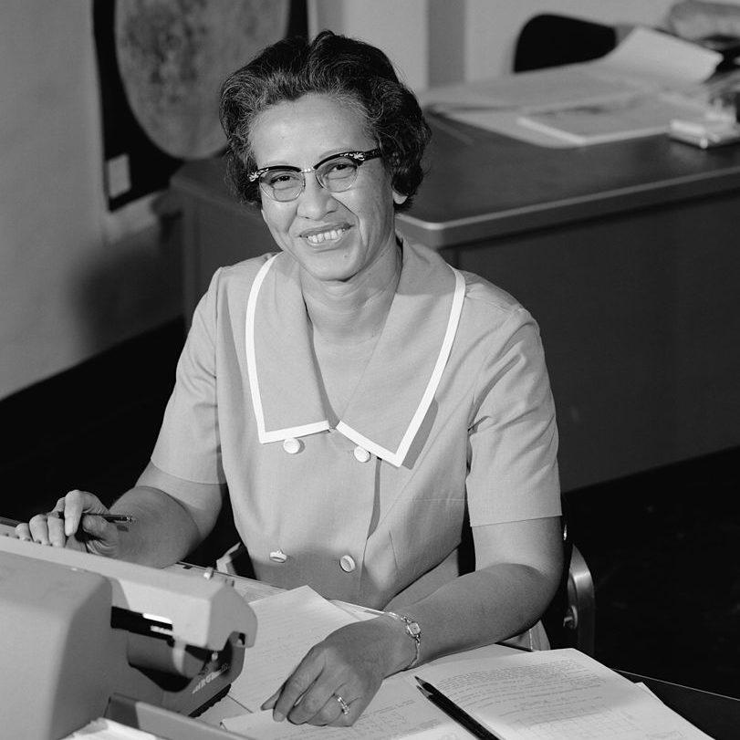 Katherine Johnson, Mitarbeiterin der NASA, Mathematikerin und Physikerin, im Jahr 1966.